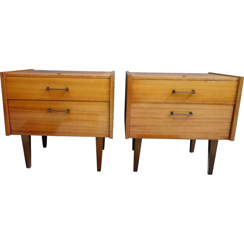 Pair of vintage bedside cabinets 1960s