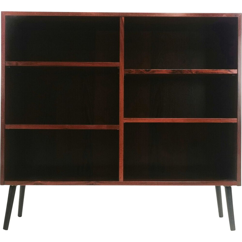 Mid Century Rosewood Bookcase Display Cabinet Danish 1970s
