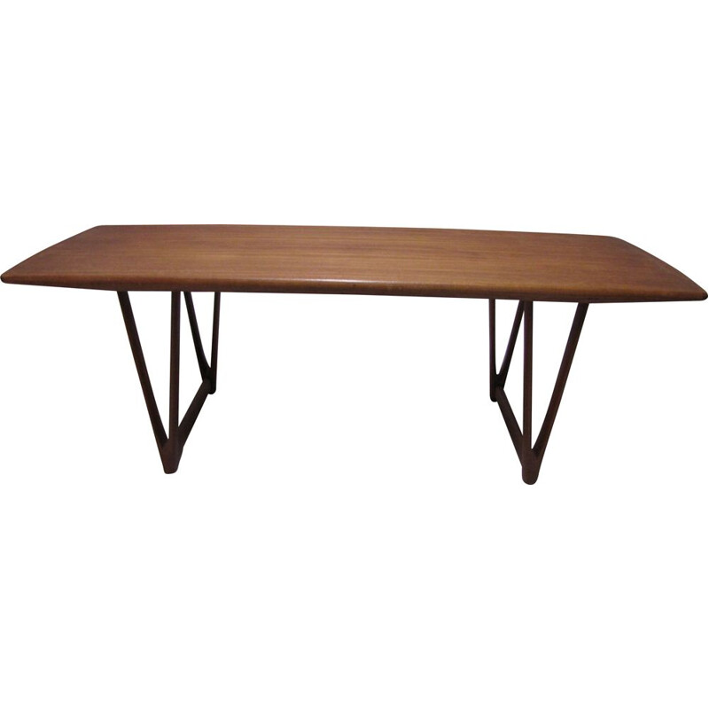 Vintage coffee table in teak by E.W. Bach for Toften Møbelfabrik