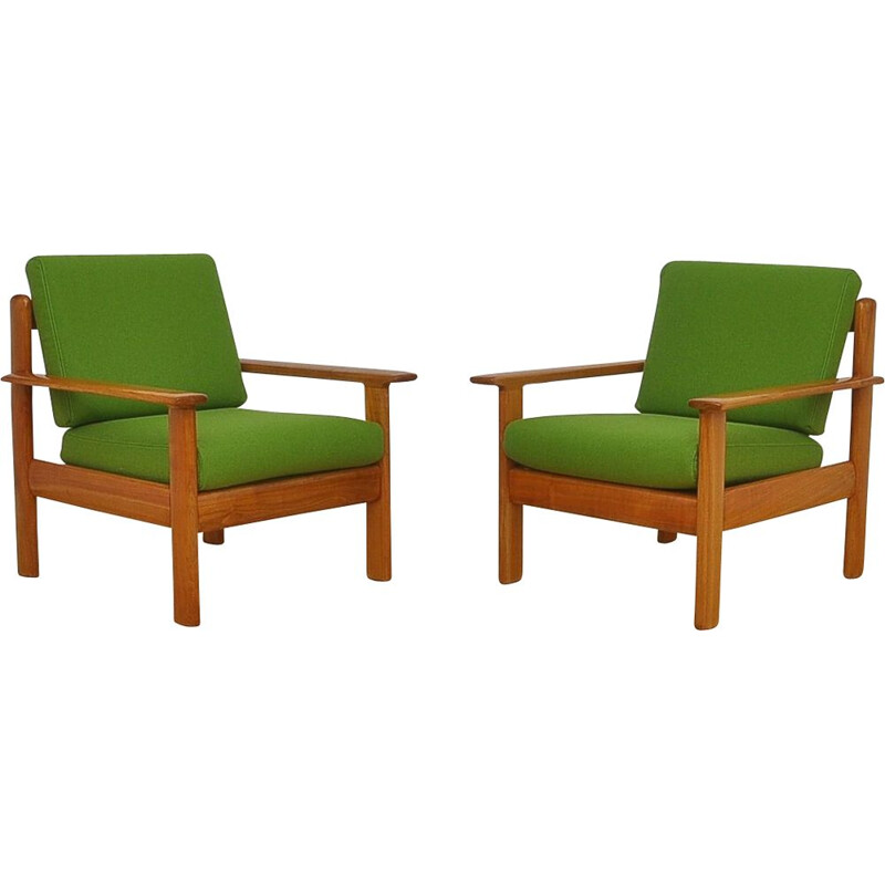 Pair of vintage Armchairs by Knoll Antimott, 1960s