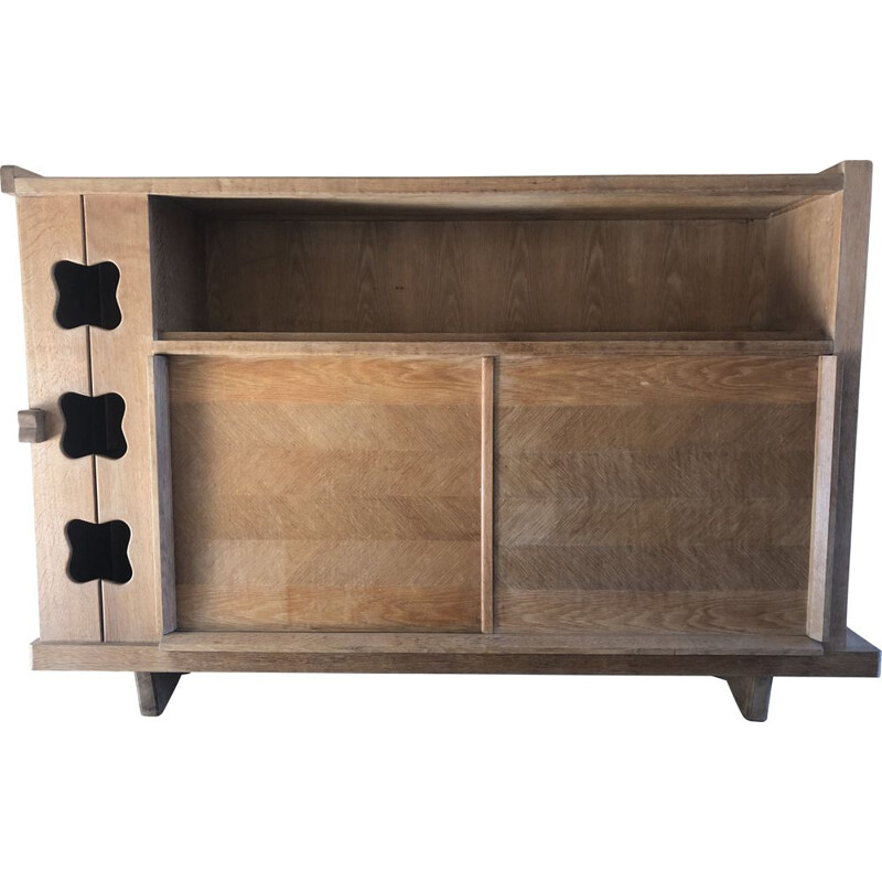 Vintage oak sideboard from Guillerme and Chambron 1960