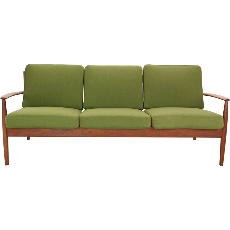 Vintage Grete Jalk Model- 118 1-Seat Teak Sofa for France & Son, Denmark, 1963
