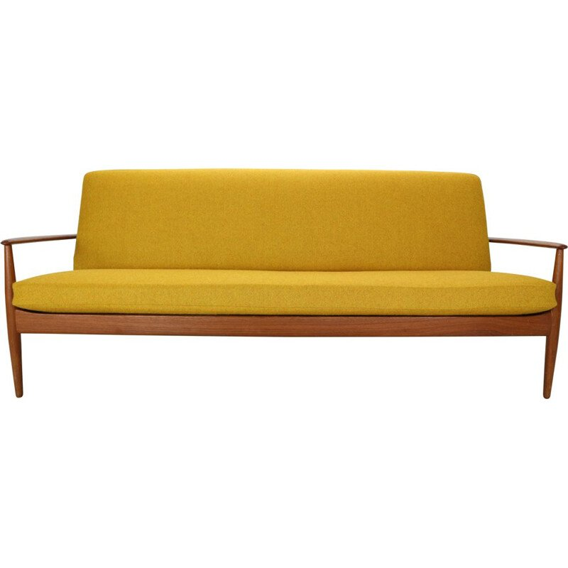 Grete Jalk Scandinavian Modern Teak Sofa for France & Son, Denmark, 1960s