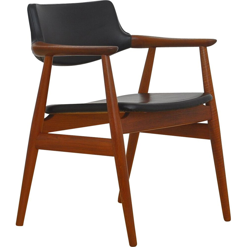 Vintage Desk armchair by Erik Kirkegaard for Høng Stolefabrik, 1950s