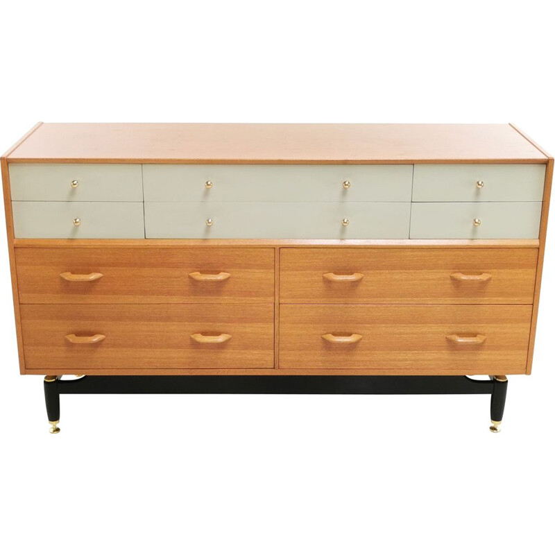 Mid Century Sideboard Chest of Drawers G Plan China White Oak