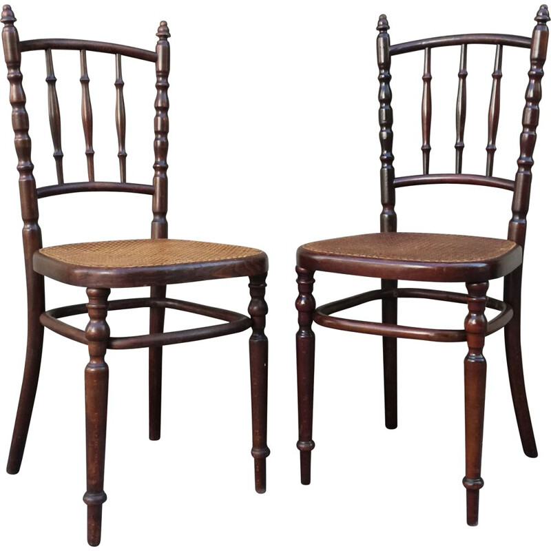 Pair of Vintage Chairs caned by Fischel 1930
