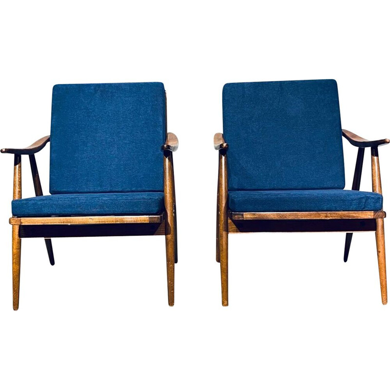 Pair Of vintage Armchairs Ton 1960