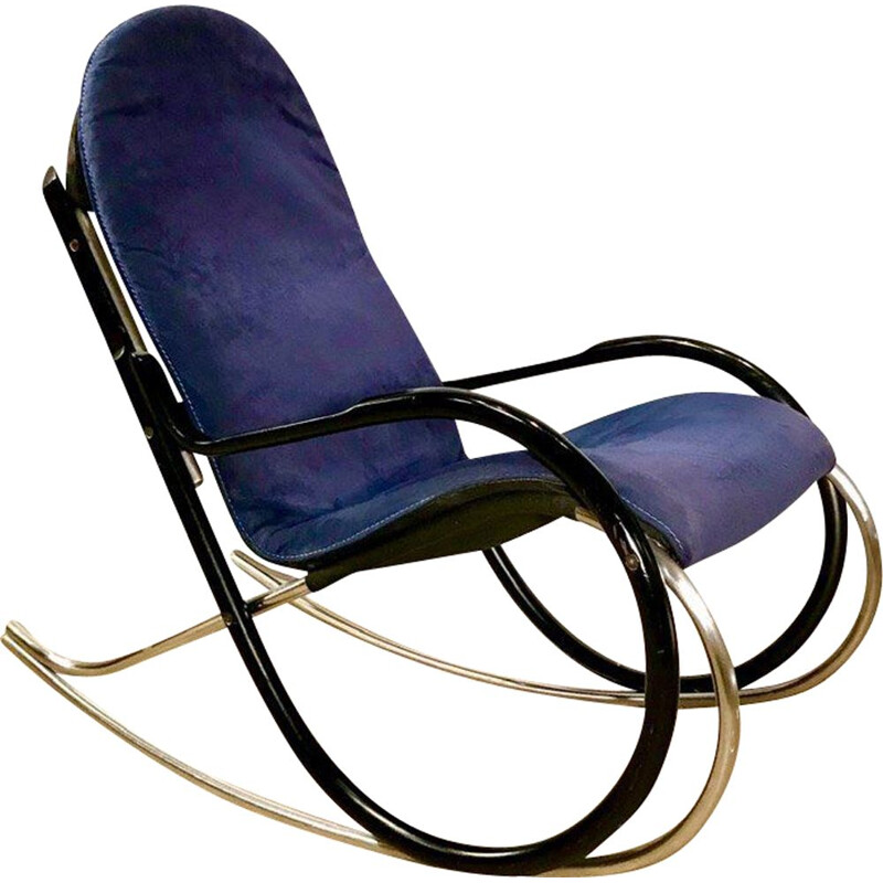 Vintage Nonna Rocking Chair By Paul Tuttle For Strässle, 1970s