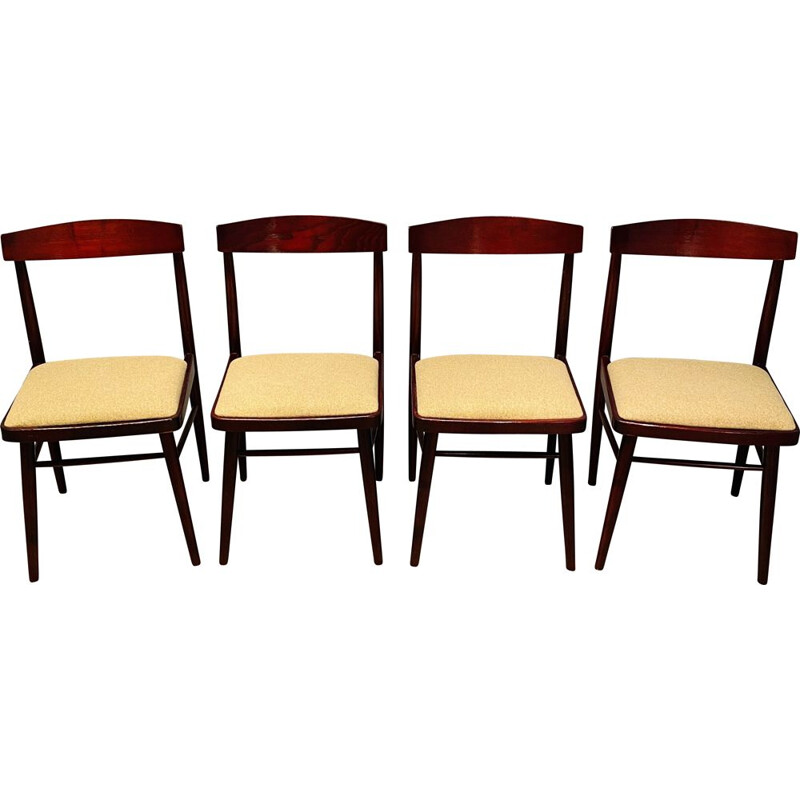 Set Of 4 vintage Chairs Mahogany Rosewood  1960