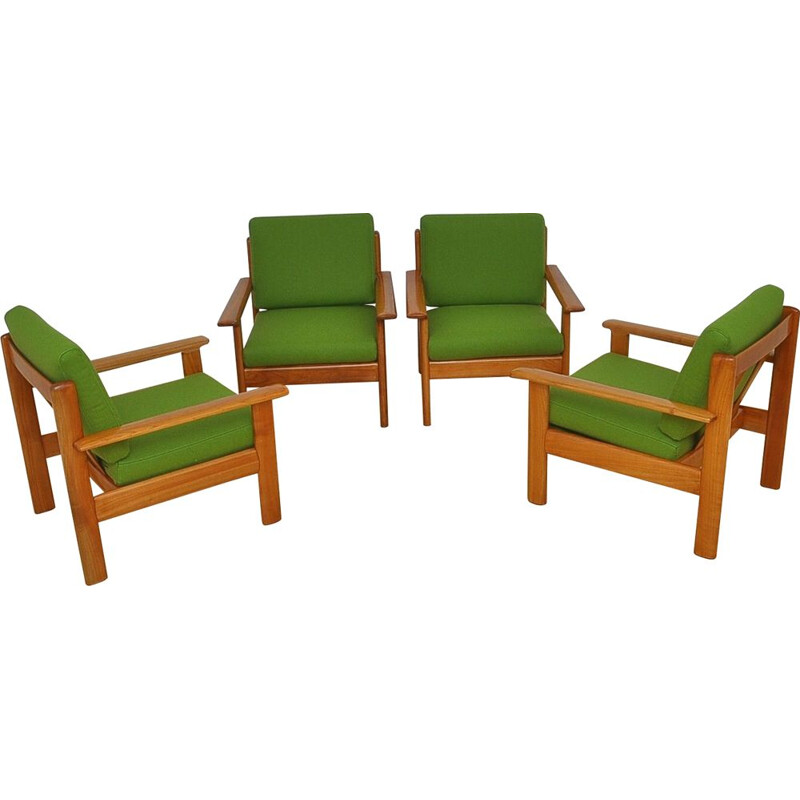 Set Of 4 vintage Armchairs By Knoll Antimott, 1960s