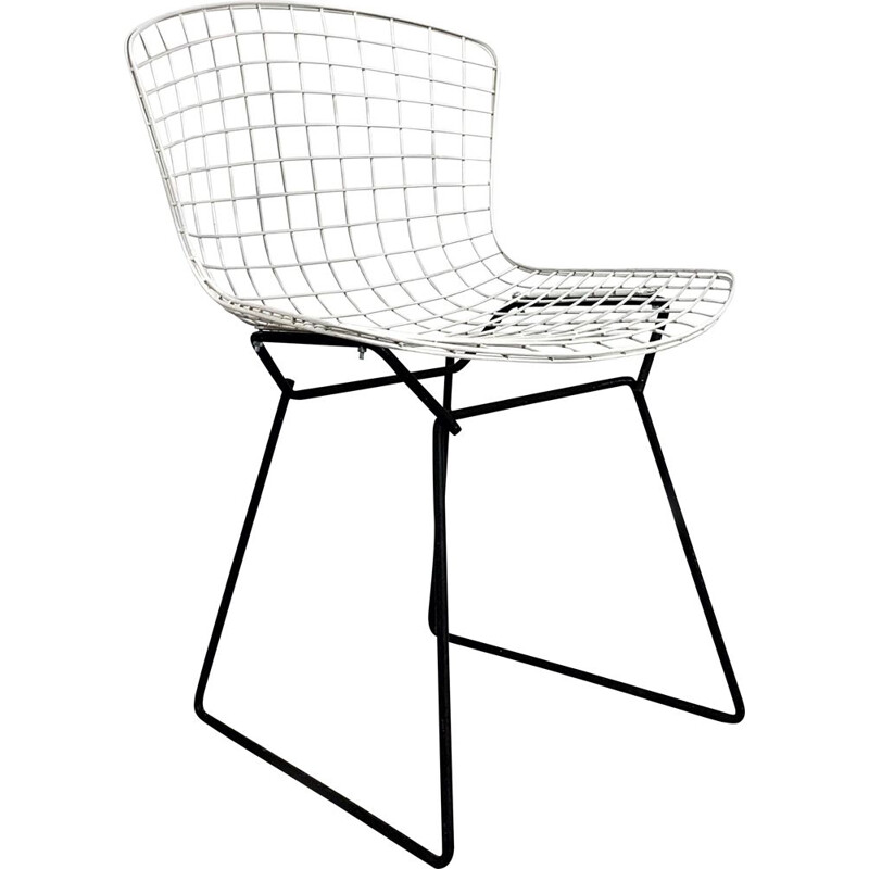 Vintage Wire Dining Chair 1st Edition by Harry Bertoia for Knoll, 1950s