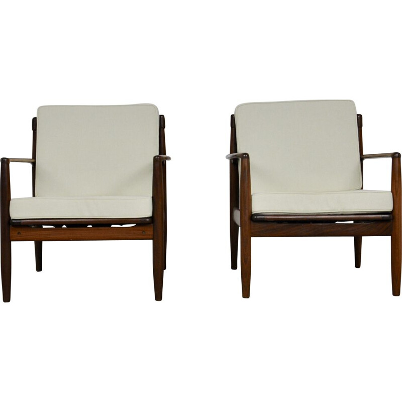 Pair of Vintage Armchairs Scandinavian 1960s