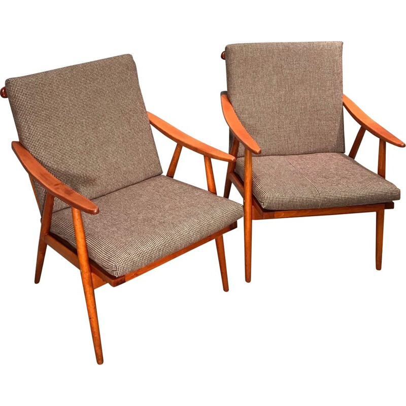 Pair of Vintage Armchairs From Ton, Czech 1960s