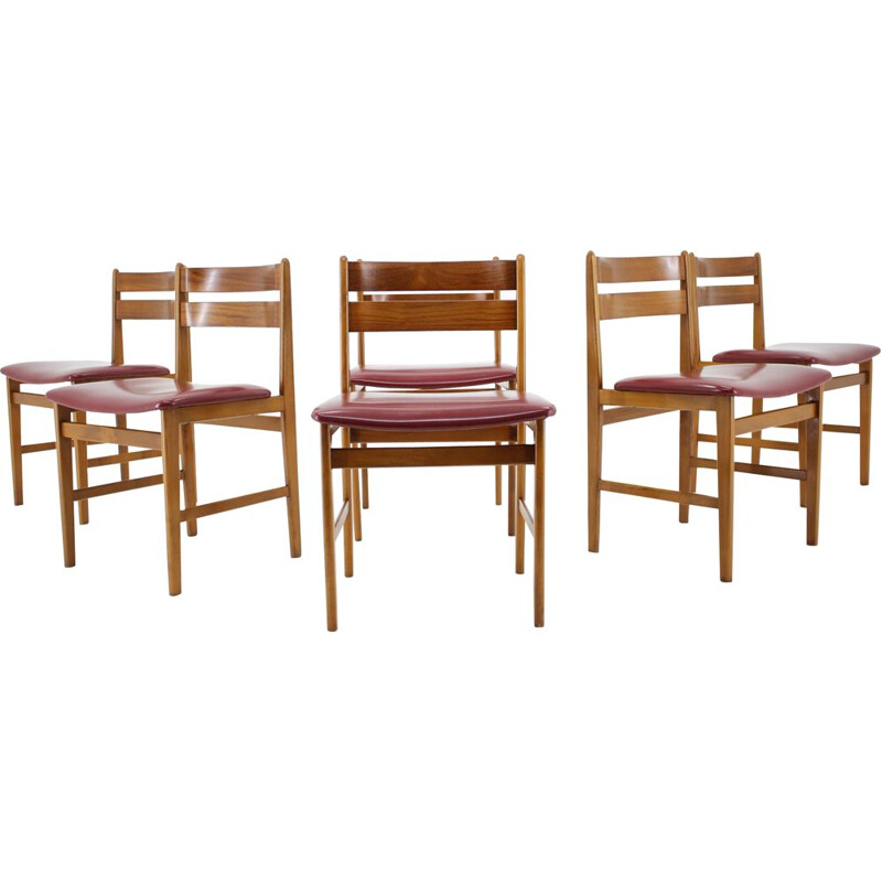 Set of 6 vintage Dining Chairs, Denmark 1960s