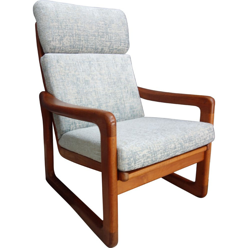 Vintage Teak highback chair by Holstebro Denmark