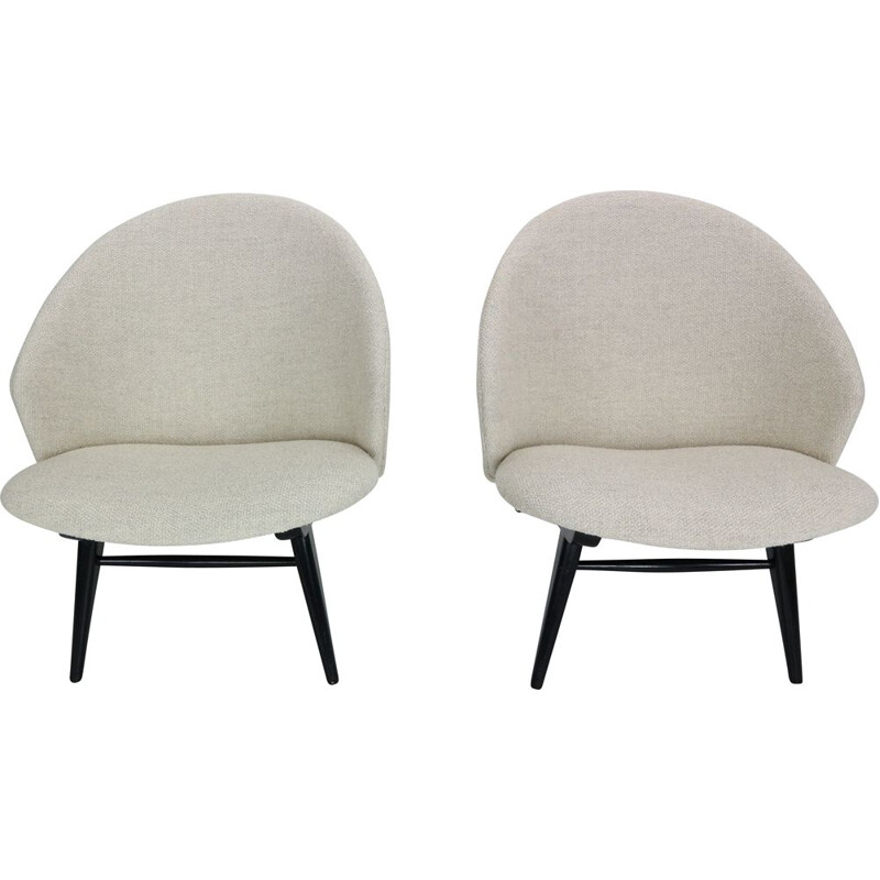Pair of lounge armchairs by Theo Ruth for Artifort 1950