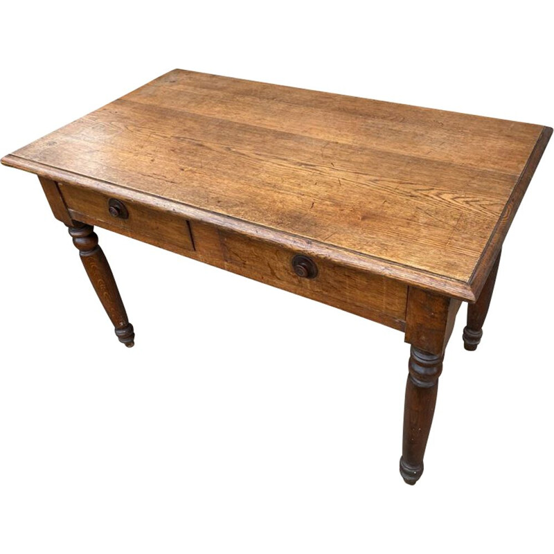 Vintage solid oak farm desk or table
