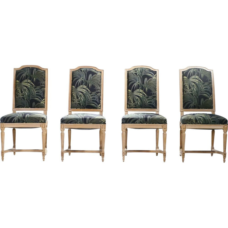 Set of 4 vintage Louis XV 1950 chairs