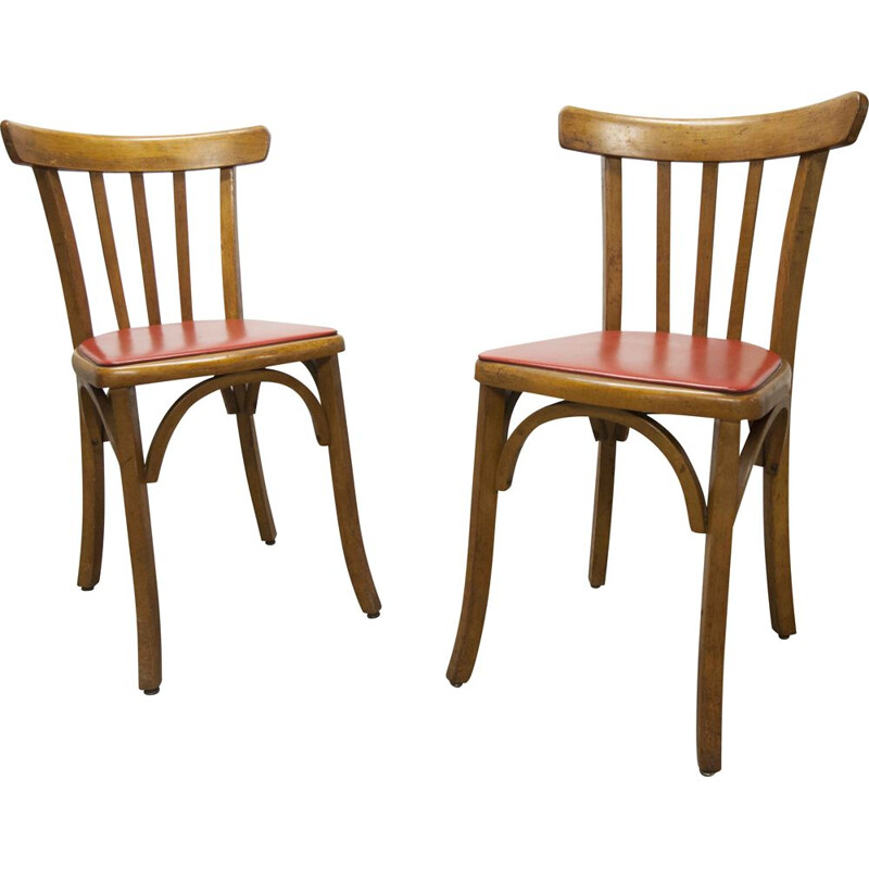 Pair of Luterma bistro vintage chairs 1930's