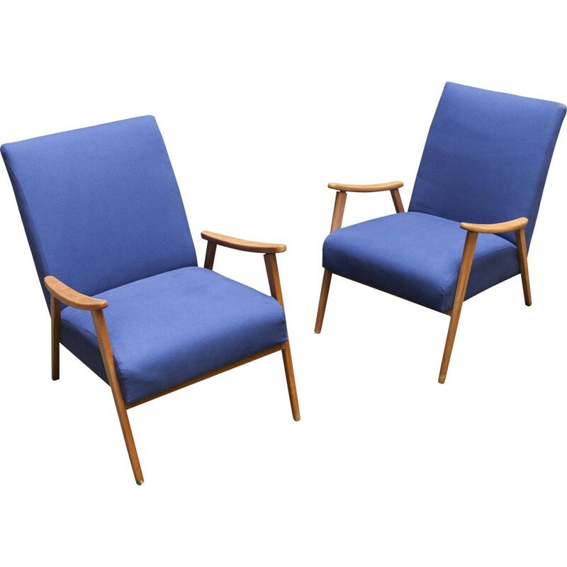Pair of vintage armchairs Scandinavian 1960's