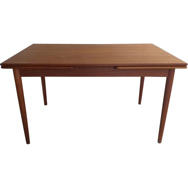 Vintage Scandinavian teak dining table 1960