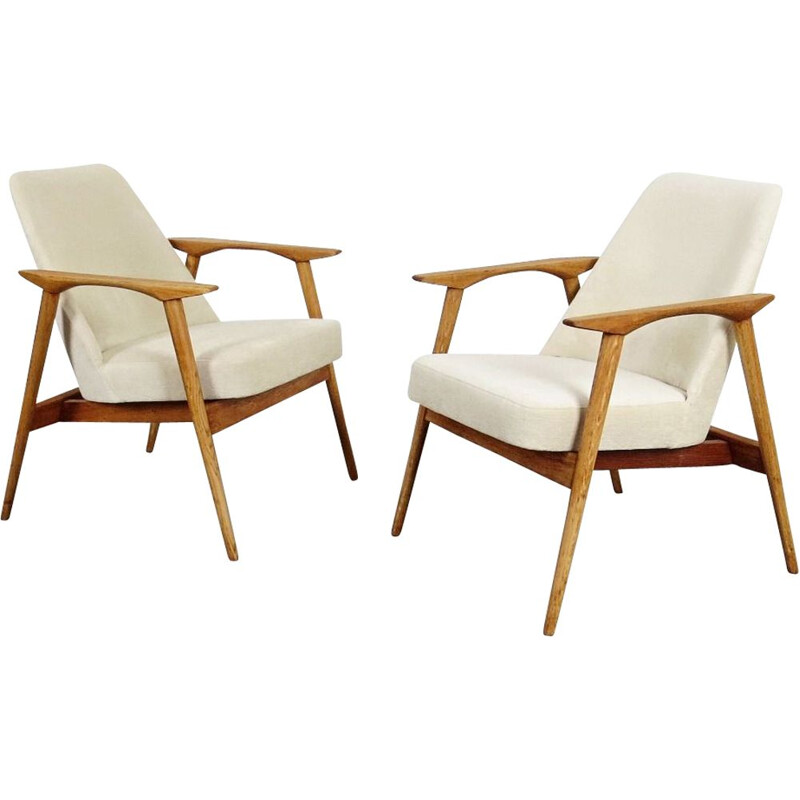 Pair of Vintage Armchair by Miroslav Navratil 1960s