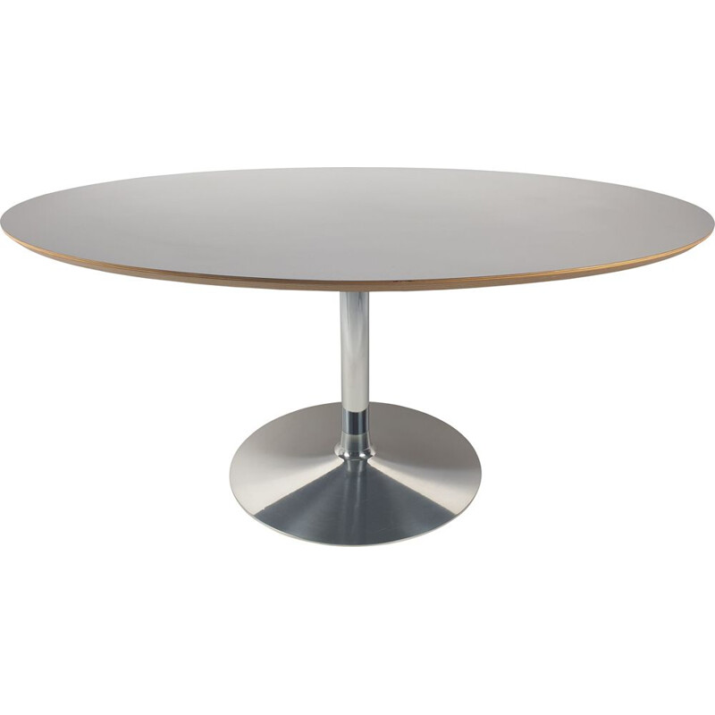 Vintage Oval Model Circle Dining Table by Pierre Paulin for Artifort, 1980s