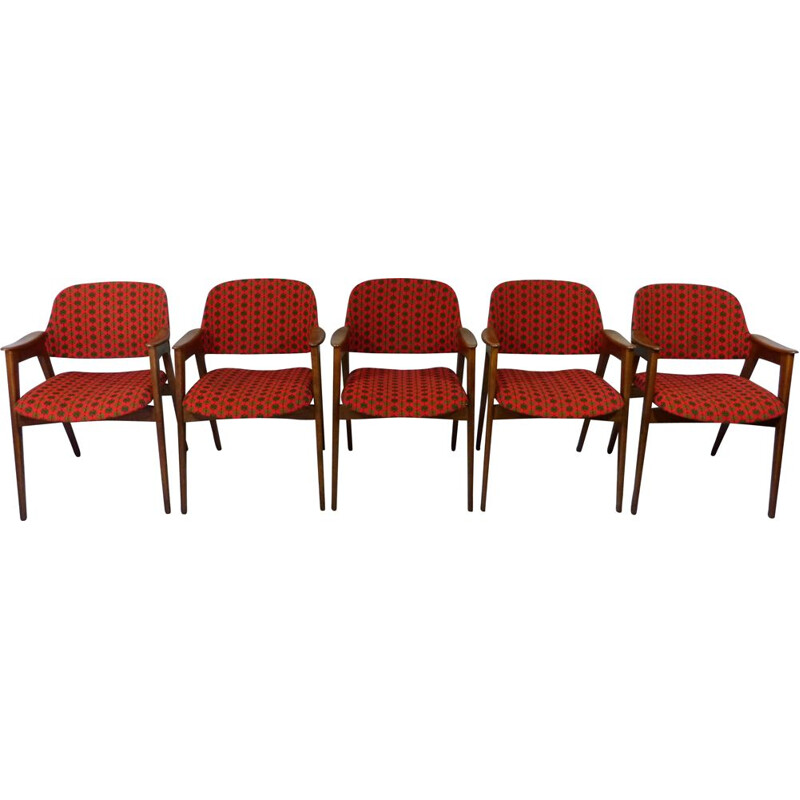 Set of 5 vintage arm chairs, 1960s