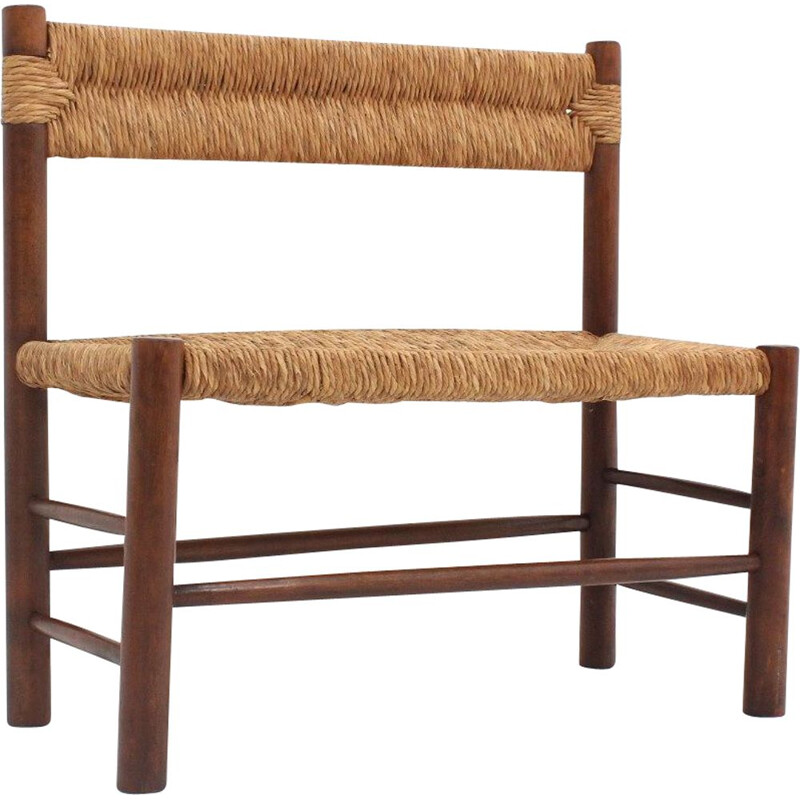 Vintage bench Charlotte Perriand Dordogne 1960s