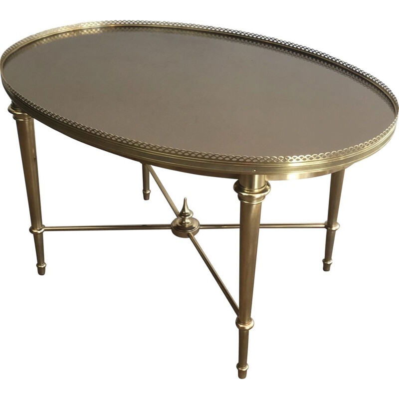 Vintage Oval Coffee Table Neoclassical 1940's
