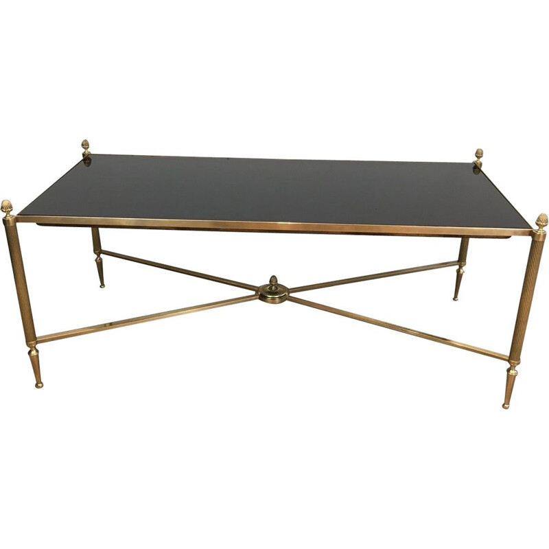 Vintage Brass Low Table Neoclassical 1940
