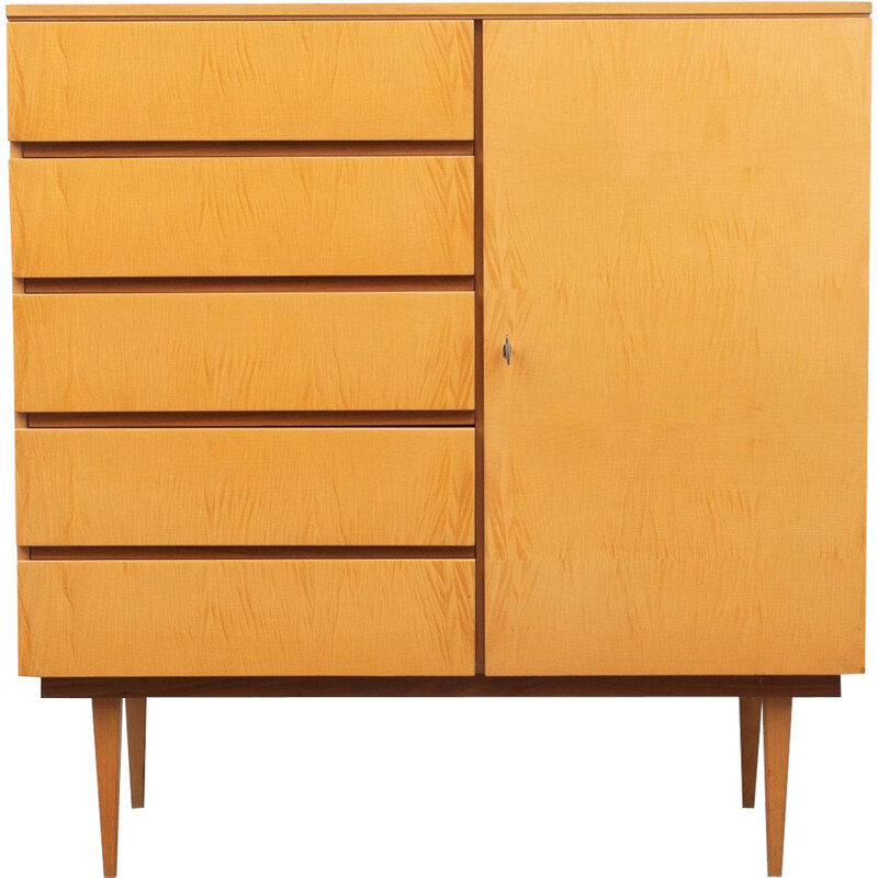 Small vintage highboard, maple 1950s