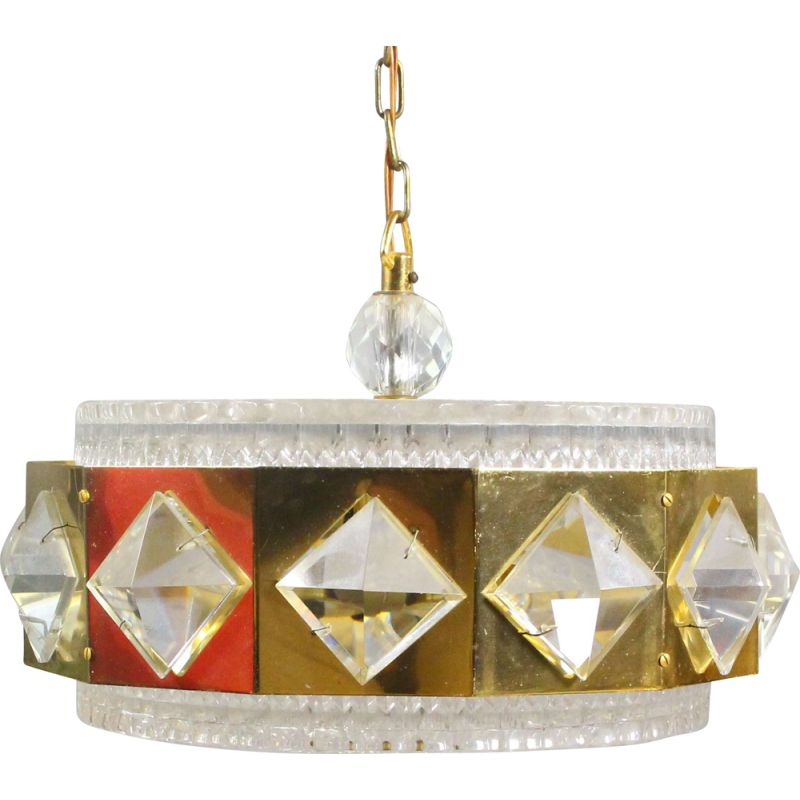 Vintage pendant by Carl Fagerlund for Orrefors 1960s