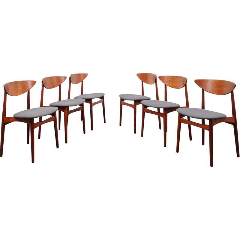 Set of 6 vintage chairs, Scandinavian 1960s