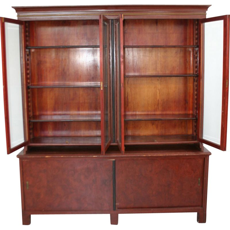 Vintage bookcase and cabinet 1930s