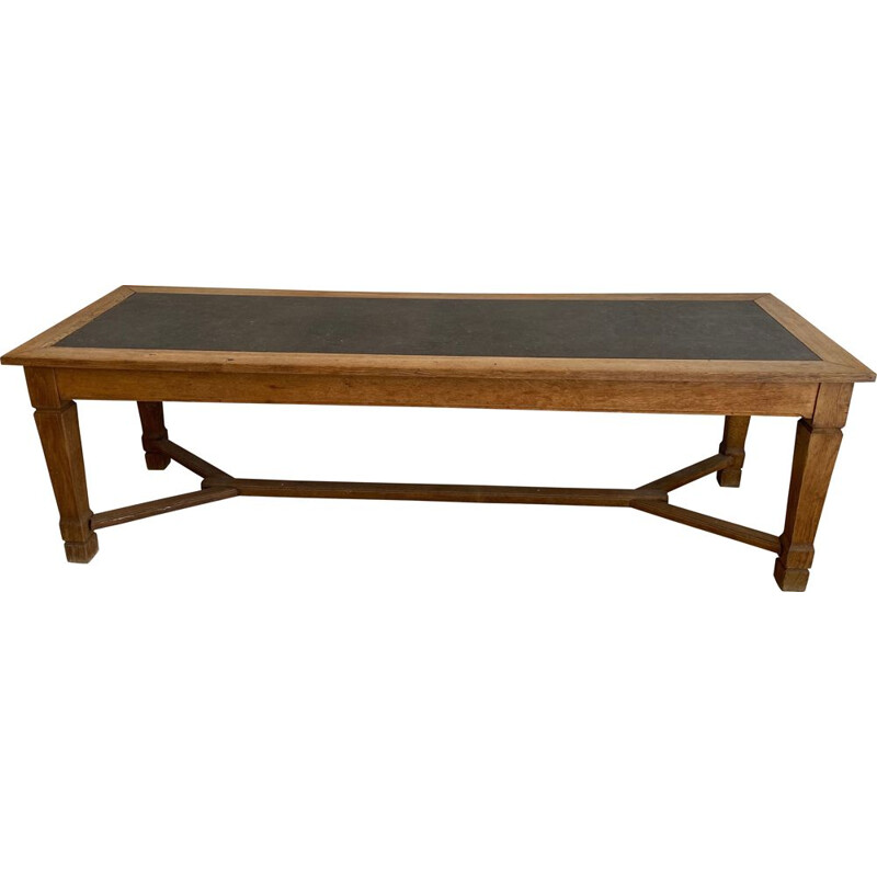 Large Vintage Monastery Table in Oak XIXth Century