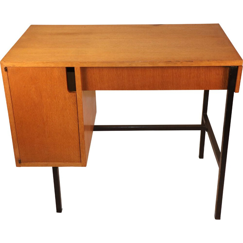 Vintage desk Jacques Hitier 1950