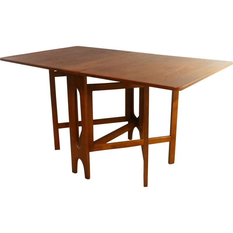 Mid century drop-leaf, gate leg dining table 1970s