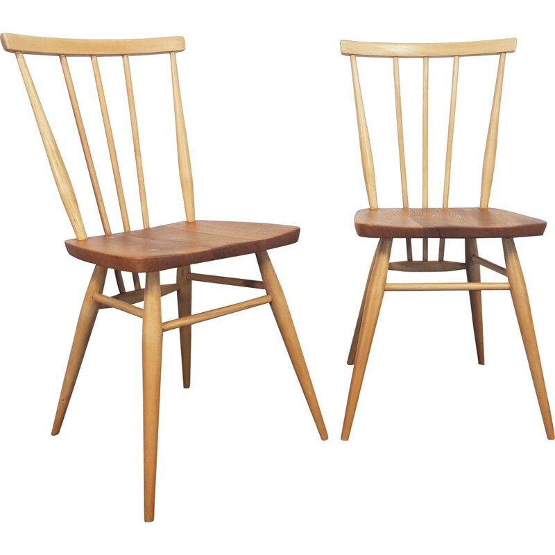 Pair of vintage Windsor Dining Chairs Ercol 1960s