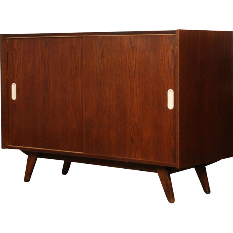 Vintage oak chest of drawers, model U-452 by Jiri Jiroutek, 1960