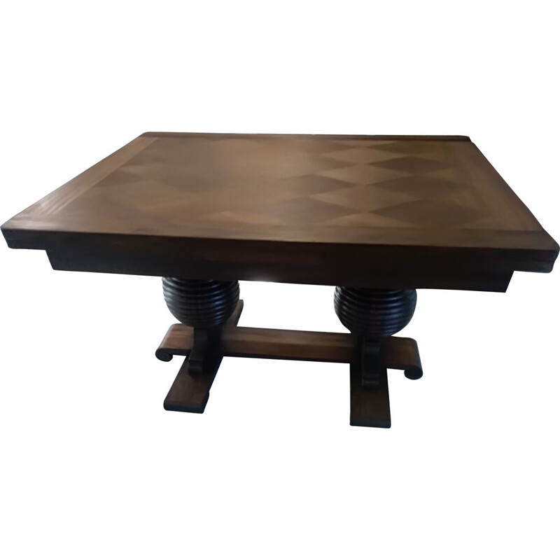 Vintage extensible art deco French Charles Dudouyt 1940 table