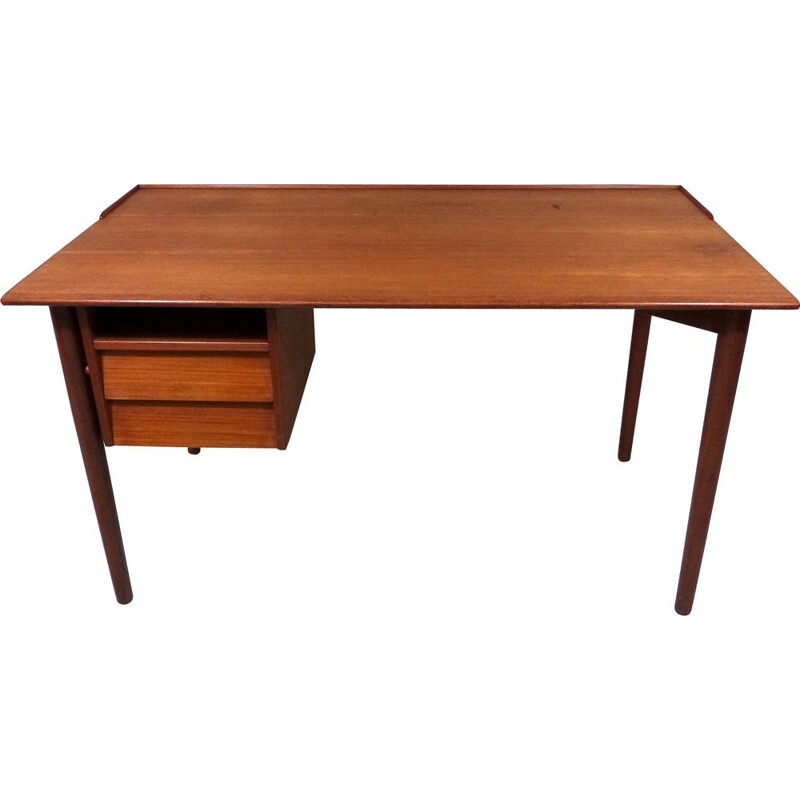 Vintage Teak desk by A.B. Lammhults Möbler, Sweden 1960s