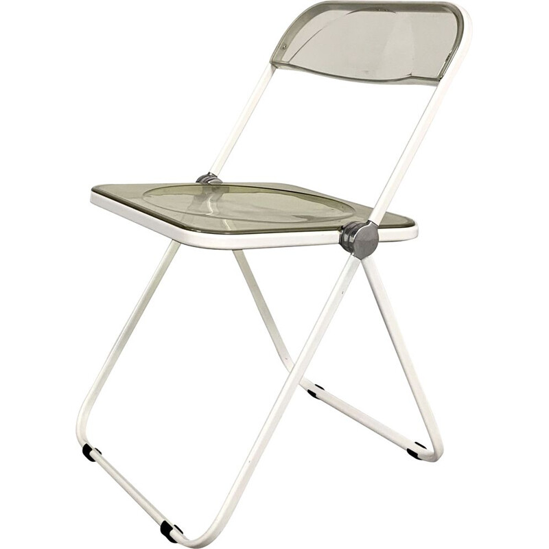 Vintage White & Lucite Plia folding chair by Giancarlo Piretti for Castelli 1960