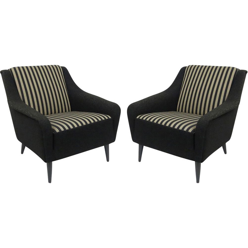 Pair of mid-century lounge chairs, 1960s
