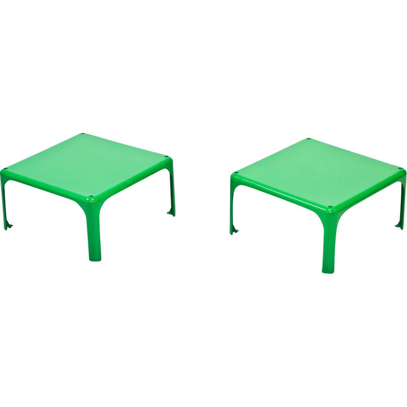 "Pair of vintage ""Demetrio 45"" stackable side tables by  Vico Magistretti by  Artemide  Italy 1960s"