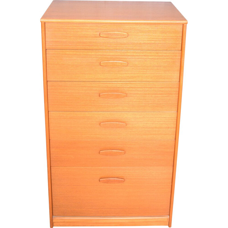 Vintage Teak Austinsuite Tall Chest Of Drawers 1960s