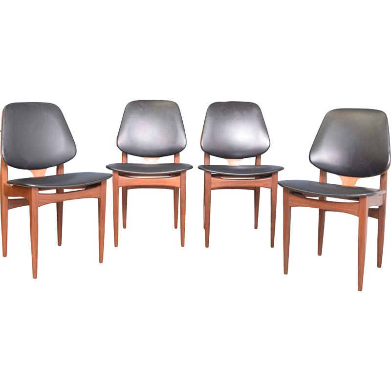 4 Teak Dining Chairs Elliots of Newbury Eon Danish