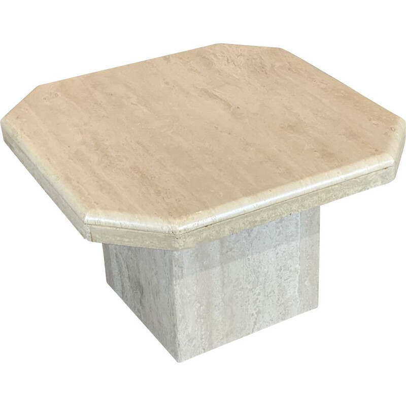 Vintage coffee table in Travertine