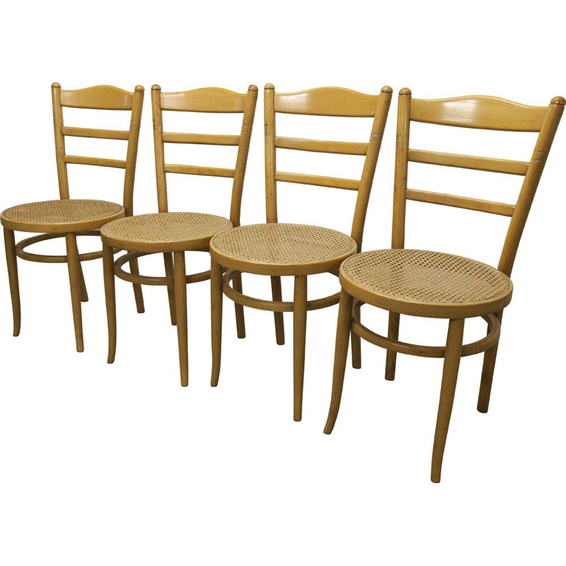 4 vintage Baumann chairs model Anteuil 1986