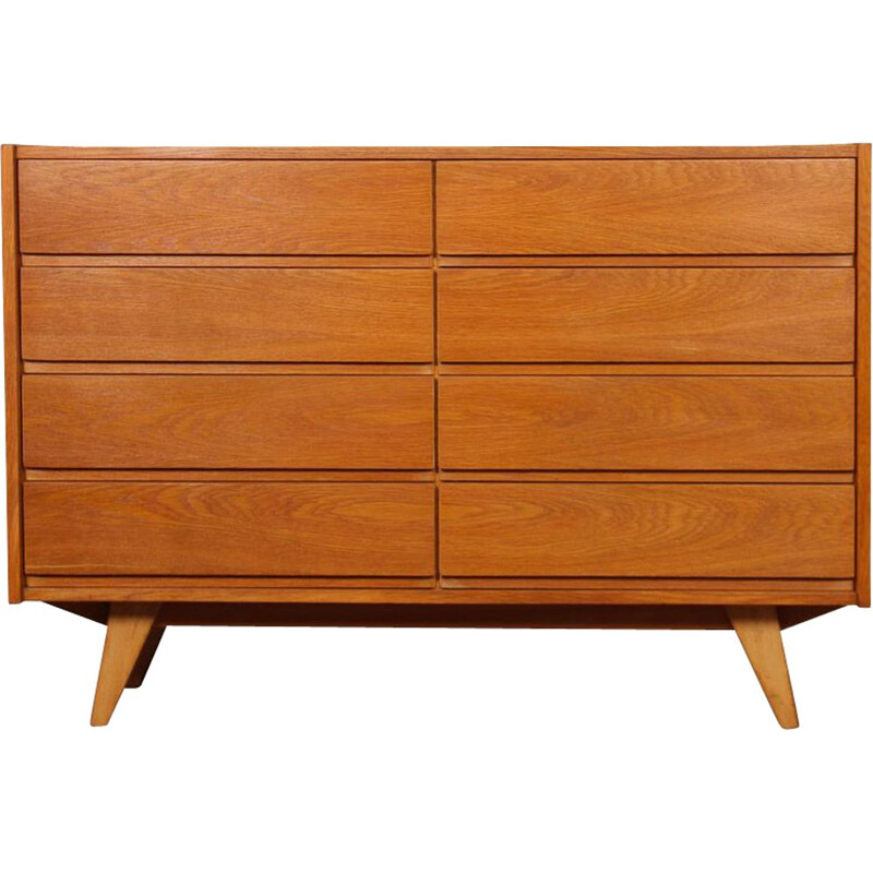 Vintage 8-drawer chest by Jiri Jiroutek, model U-453, 1960